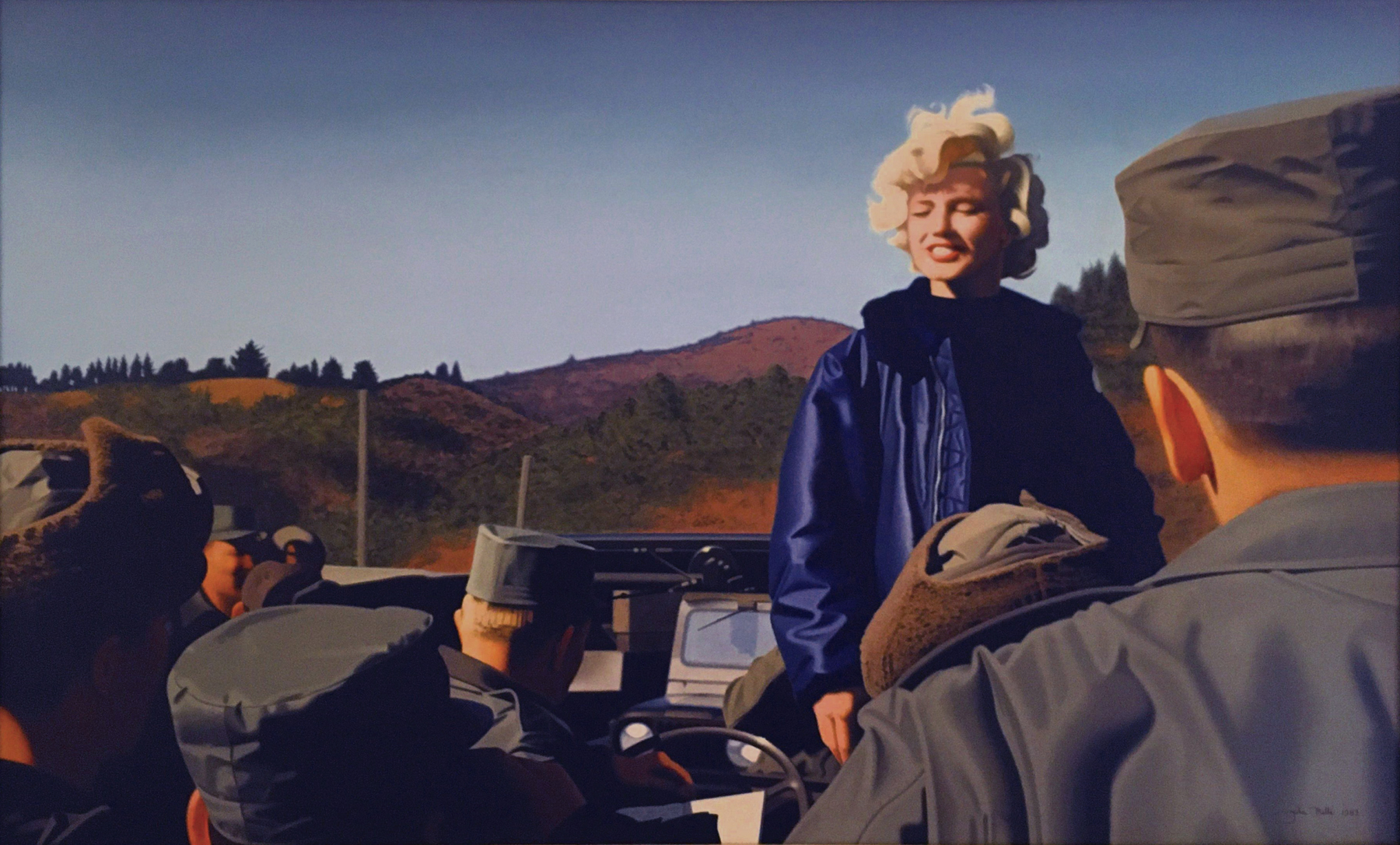 Marilyn Monroe by John Mills, Photorealism artist and car ad illustrator as seen on American Pickers.